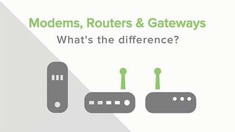 Modems, Router, Gateways:  Was ist der Unterschied?