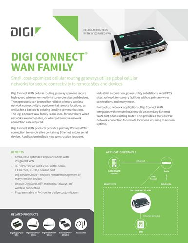 Digi Connect WAN Familie Datenblatt