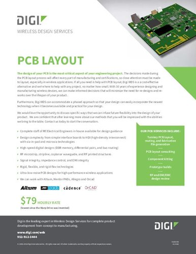 Wireless Design Dienstleistungen: PCB-Layout-Datenblatt