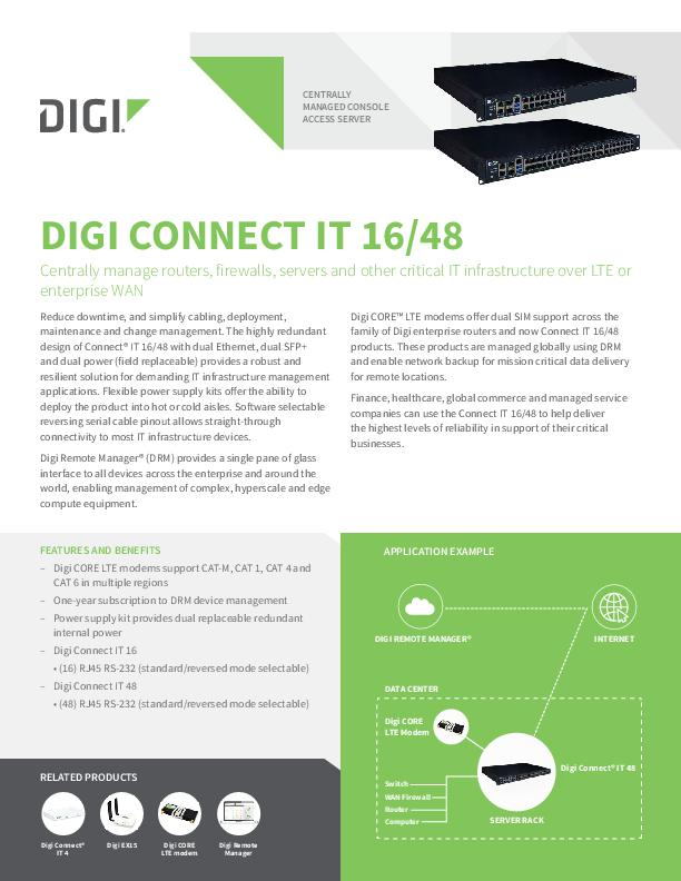 Digi Connect IT 16/48 Datenblatt