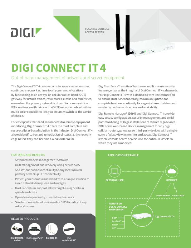 Digi Connect IT 4 Datenblatt