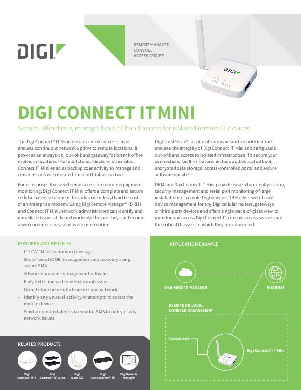 Digi Connect IT Mini Datenblatt