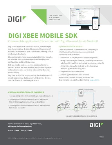 Digi XBee Mobile SDK Datenblatt