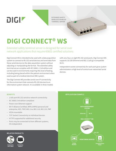Digi Connect WS Datenblatt