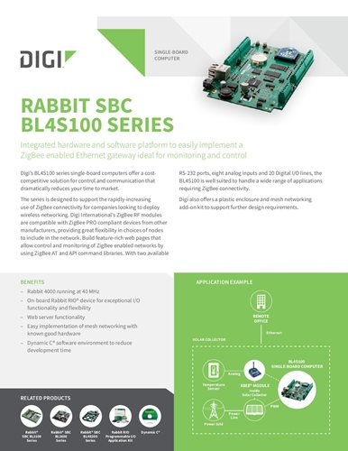Rabbit SBC BL4S100 Serie Datenblatt