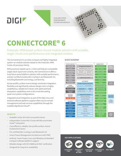 Digi ConnectCore 6 Datenblatt