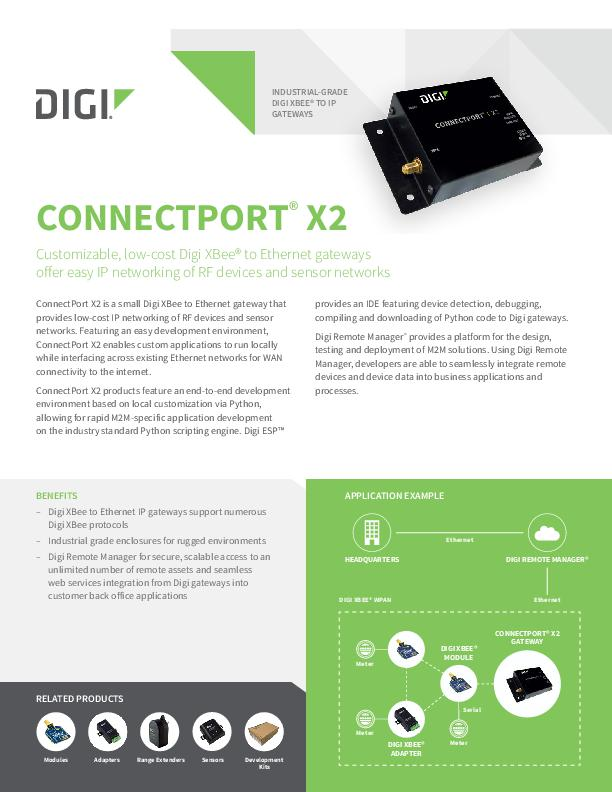 Digi ConnectPort X2 Datenblatt