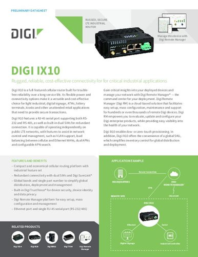 Digi TransPort WR11 XT Datenblatt