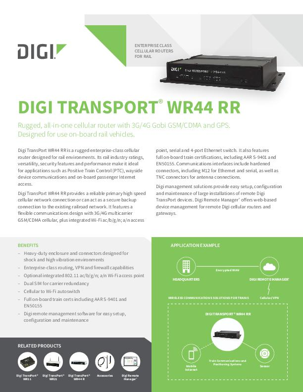 Digi Transport WR44 RR Datenblatt