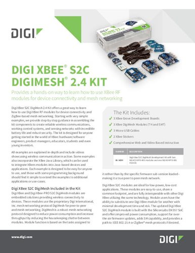 Digi XBee® S2C DigiMesh® 2.4 Kit Datenblatt