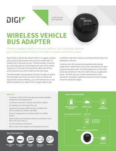 Produktdatenblatt Wireless Vehicle Bus Adapter (WVA)