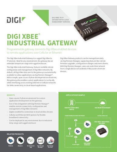 Digi XBee Industrial Gateway Datenblatt
