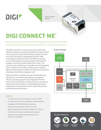 Digi Connect ME Datenblatt
