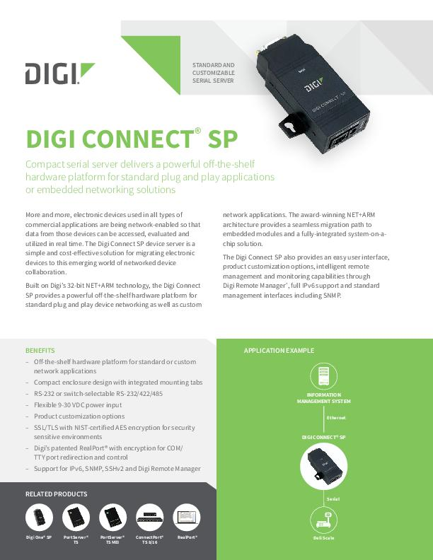 Digi Connect SP-Datenblatt