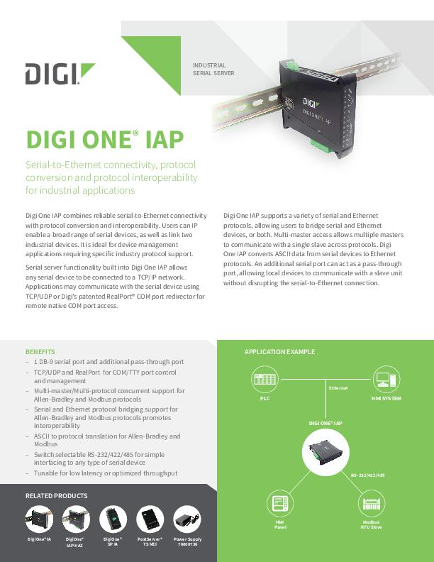 Digi One IAP-Datenblatt