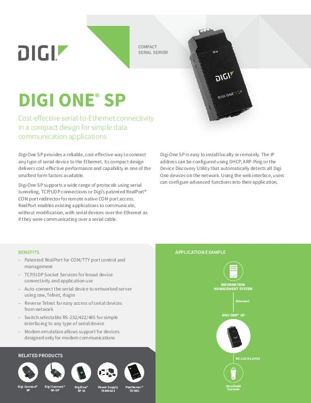 Digi One SP Datenblatt