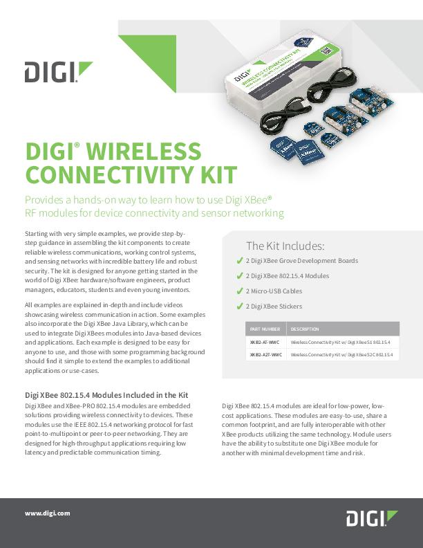 Digi Wireless Connectivity Kit Datenblatt