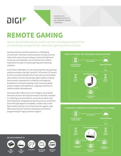 3G- und 4G-LTE-Kommunikation zu Off-Premise-Gaming-Terminals